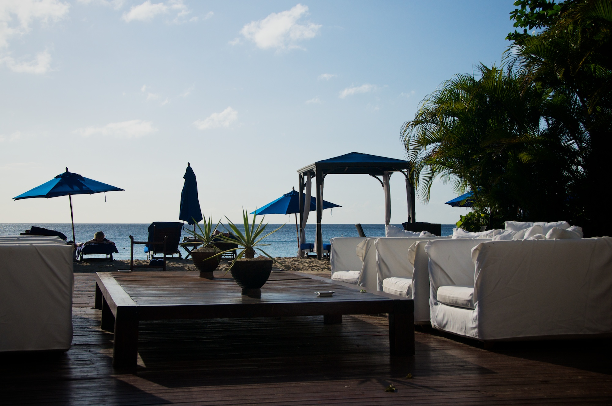 Open air lounge at The House, Barbados