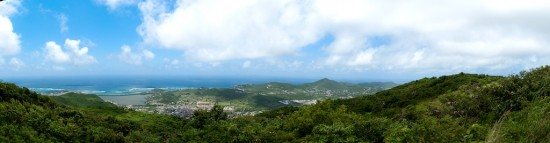 view from Pic Paradis St. Martin