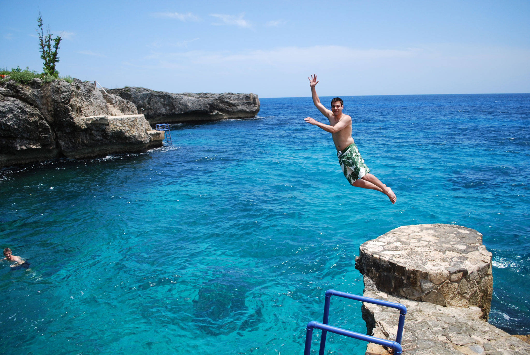 Cliff diving in Negril, Jamaica.