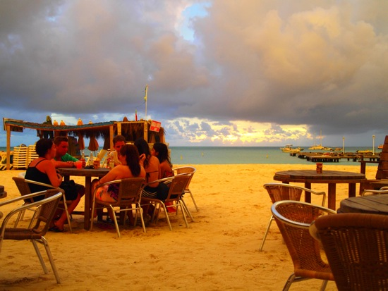 Sunset at Moomba Beach Bar, Aruba