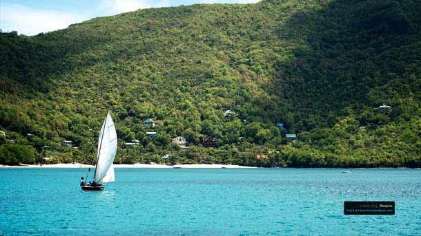 Sailing off Lower Bay, Bequia