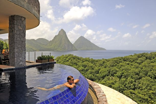 St. Lucia's Pitons at Jade Mountain