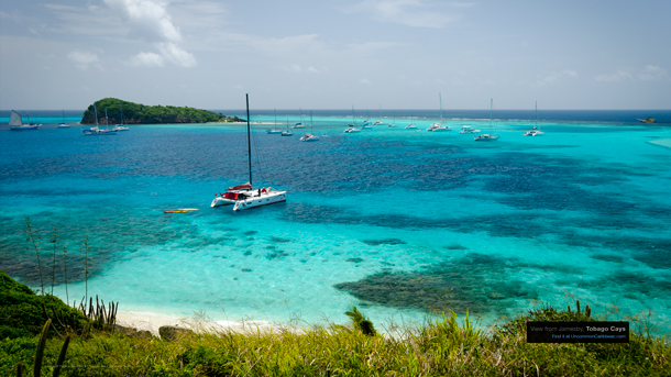View from Jamesby, Tobago Cays