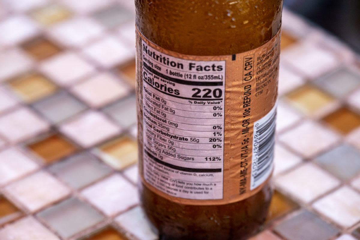 DG Jamaican Ginger Beer Nutrition Facts