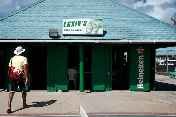 Lexie's Bar Oistins Fish Market By Day, Barbados by Patrick Bennett