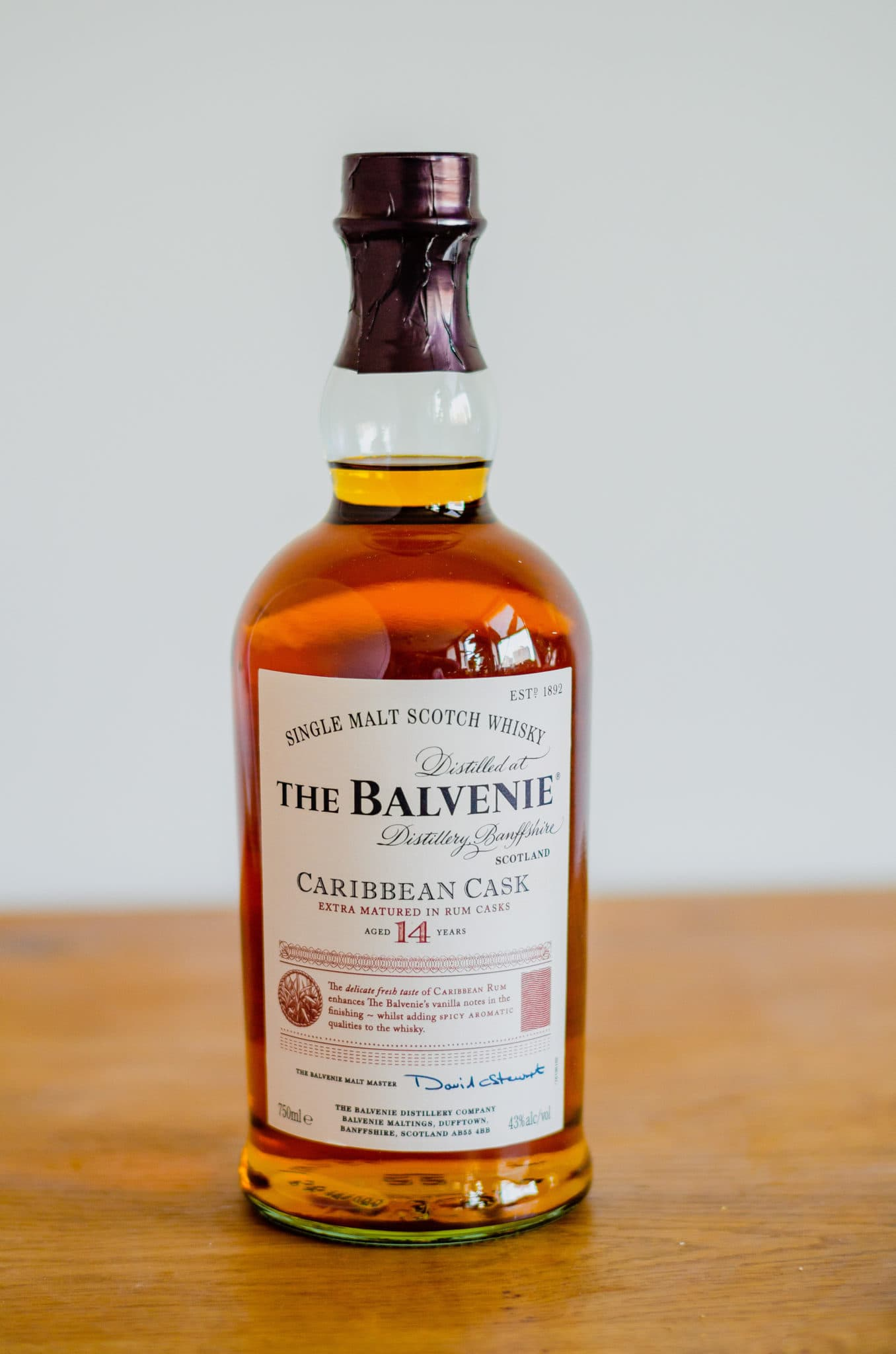 The Balvenie Caribbean Cask Single Malt Scotch