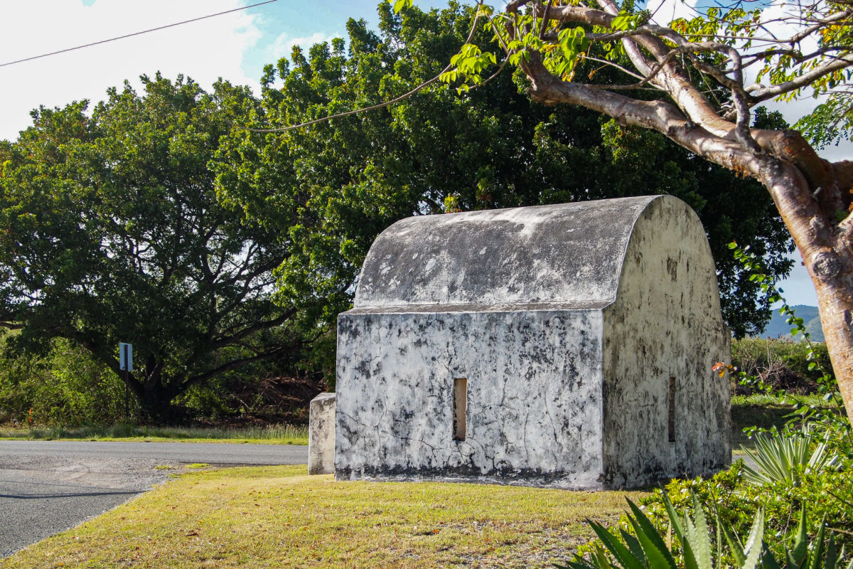 One of the St. Croix Plantation Watch Houses at Betty's Hope
