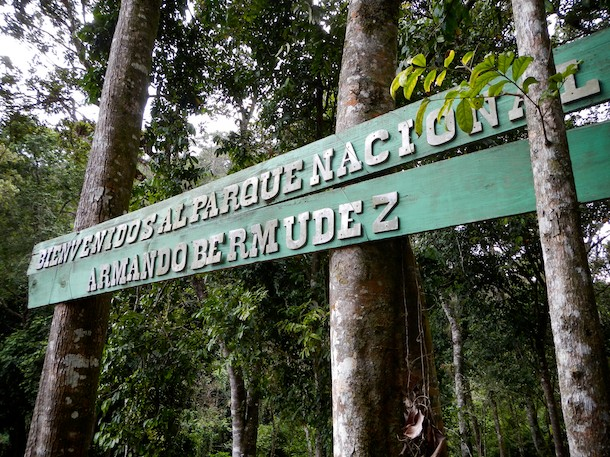 Welcome SIgnage, Pico Duarte, Dominican Republic by Patrick Bennett