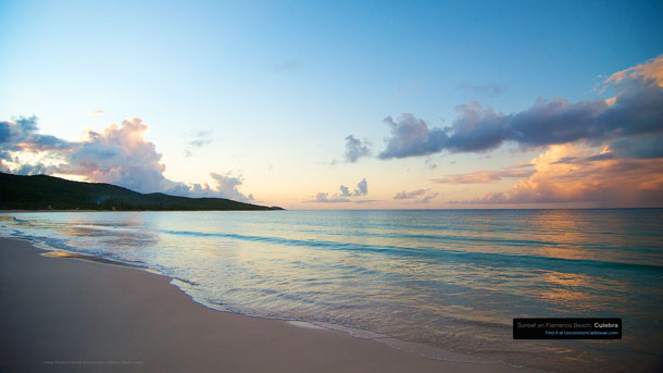 Sunset on Flamenco Beach Culebra by Patrick Bennett