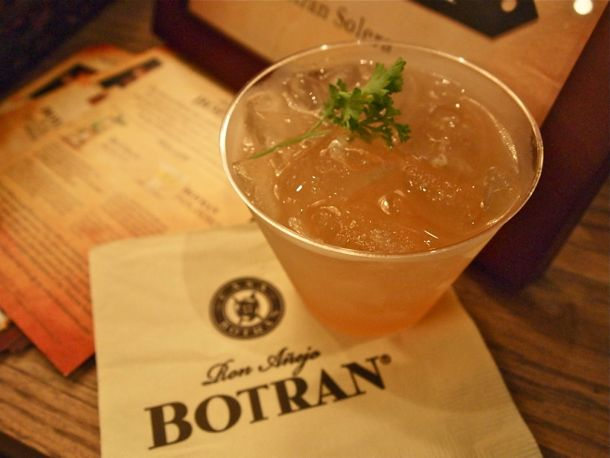 Ron Botran Anti-Jito rum cocktail