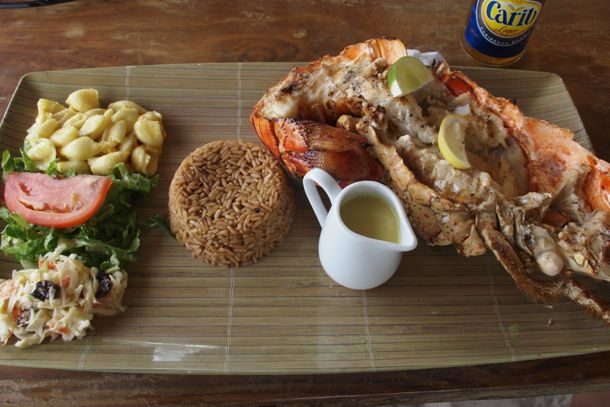 Sandy Island Anguilla Grilled Lobster