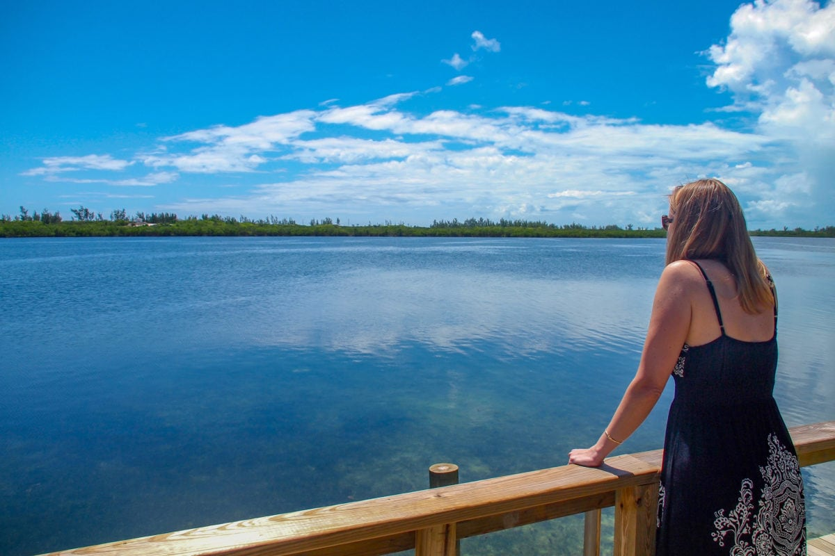 The midday view over Inner White Sound at Green Turtle Club, Abaco | SBPR