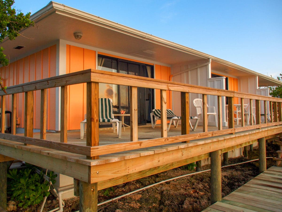Our waterfront deck at Green Turtle Club, Abaco, Bahamas | SBPR