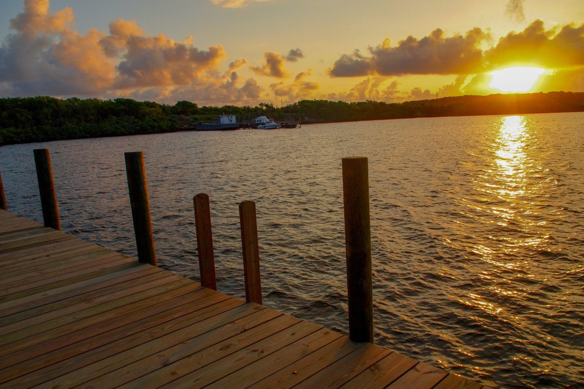 Sunrise view from our Waterfront Room at Green Turtle Club, Abaco | SBPR