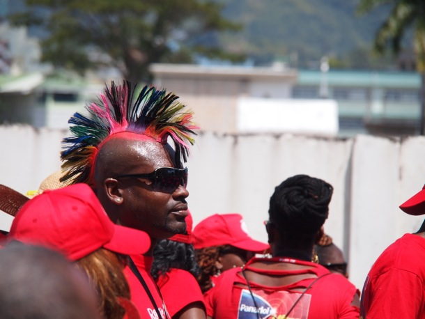 Feather head man, 2013 Trinidad Carnival/SBPR