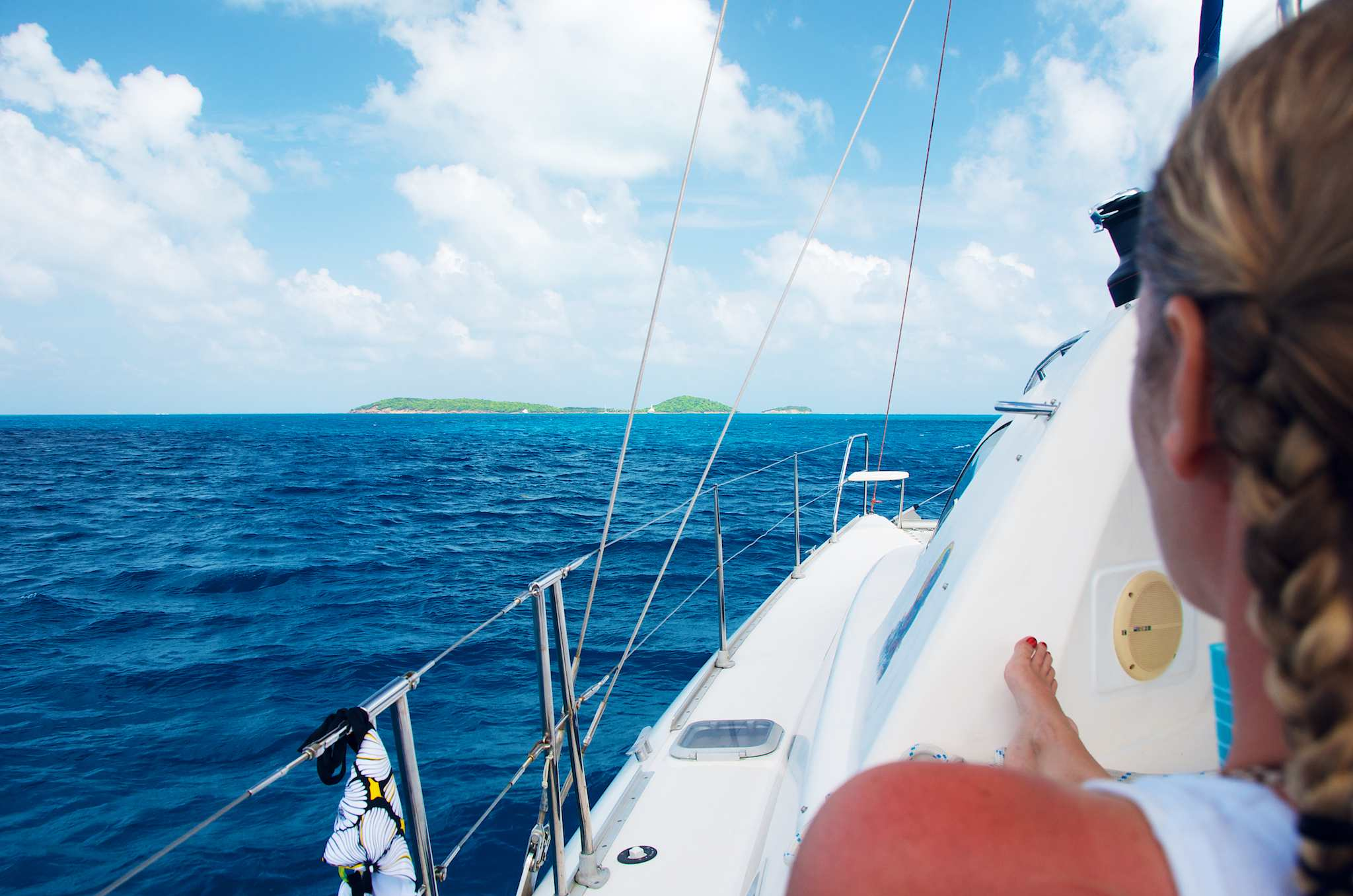 Sailing Towards The Tobago Cays in the Grenadines by Patrick Bennett