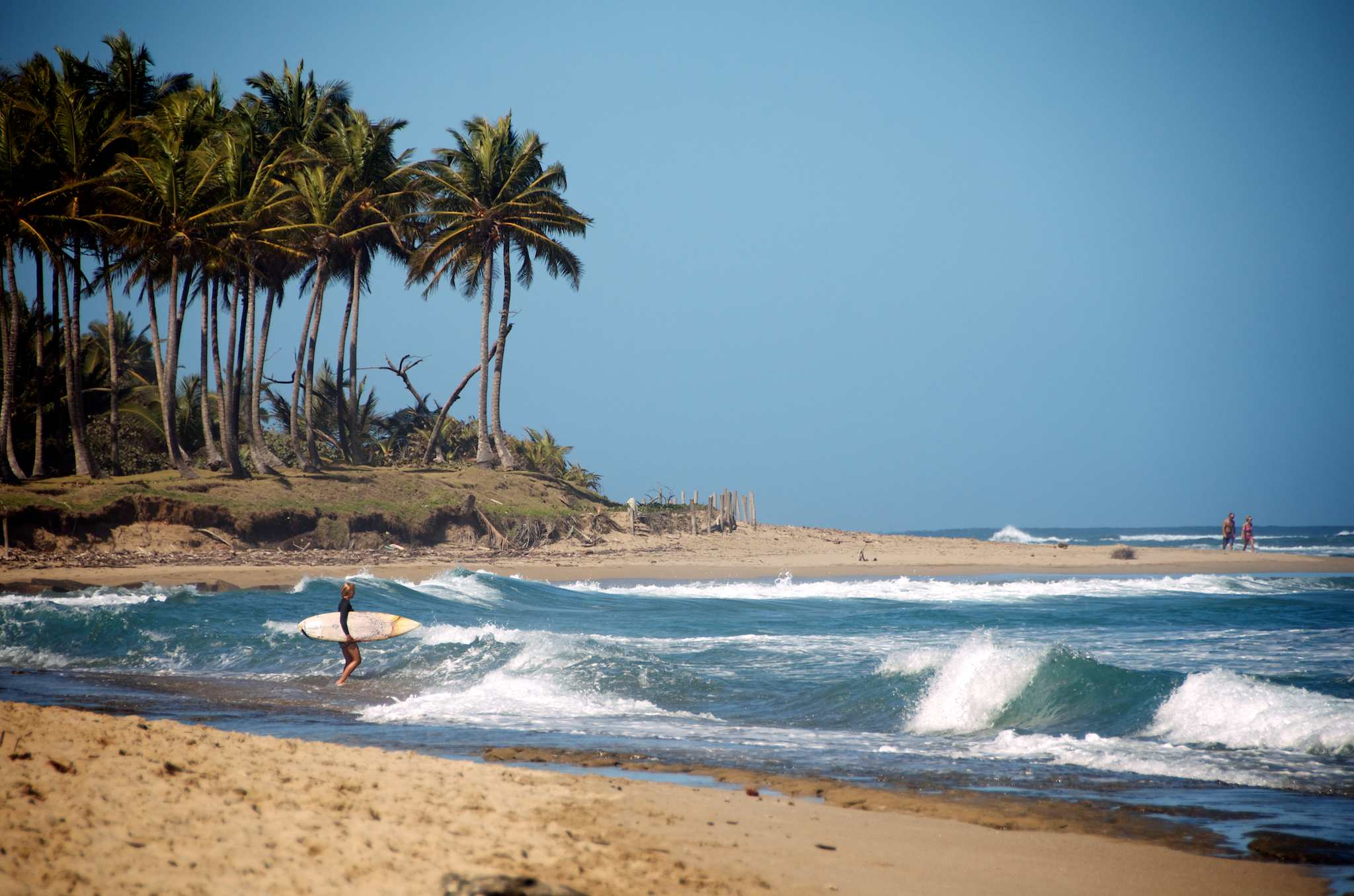 Dominican Republic surfing, North shore