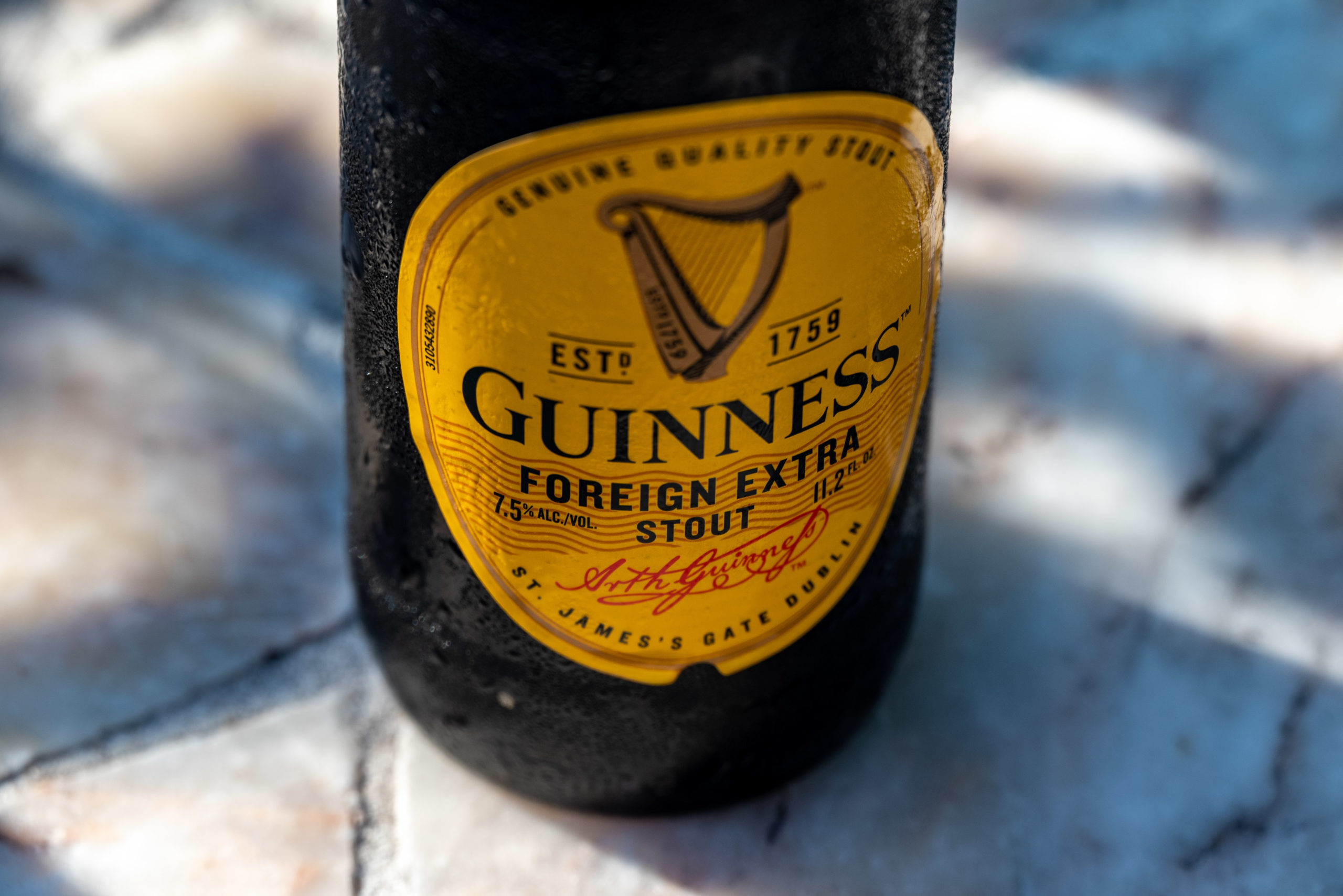 Guinness Foreign Extra Stout label