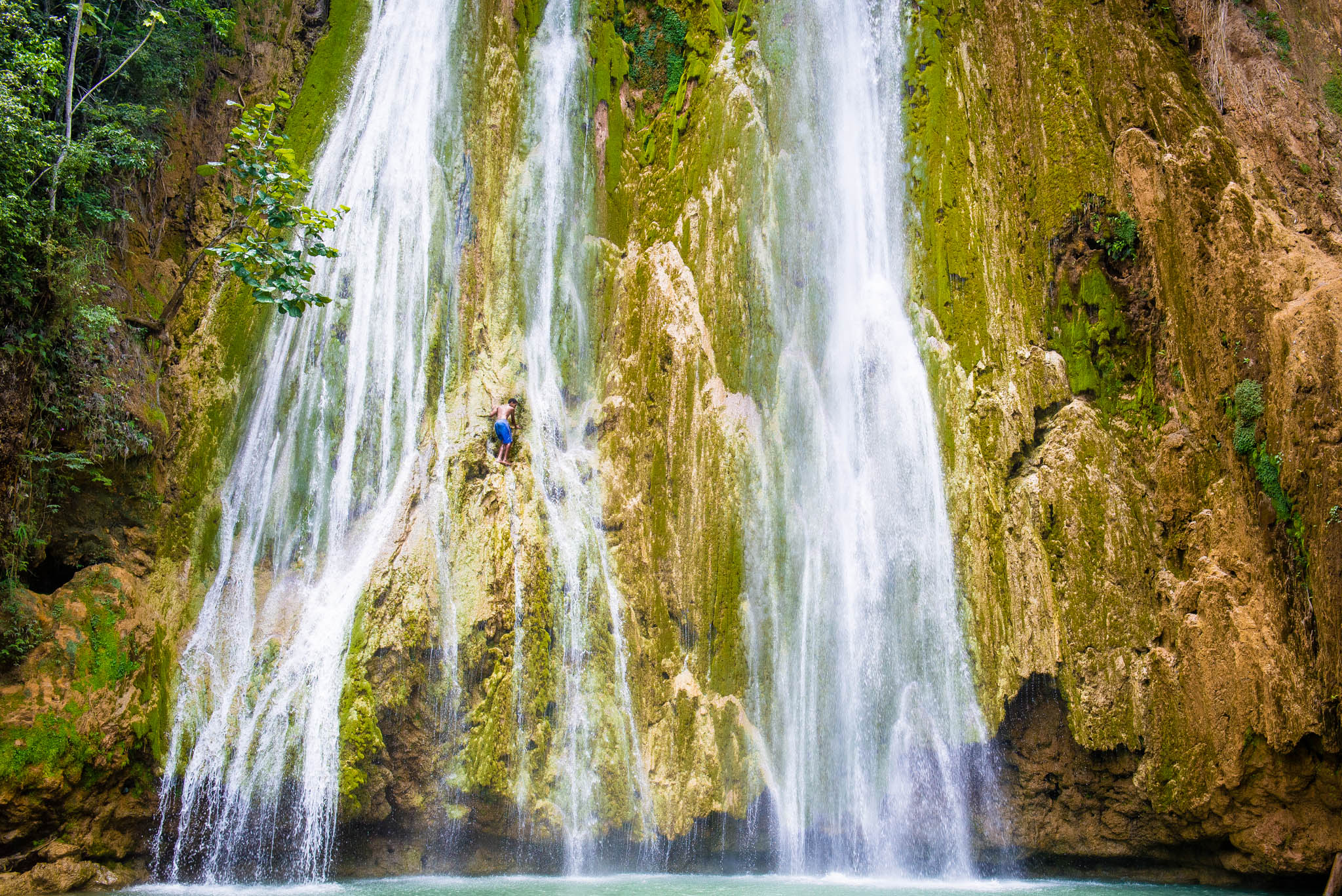 Salto del Limon Waterfall, Samana, Dominican Republic by Patrick Bennett
