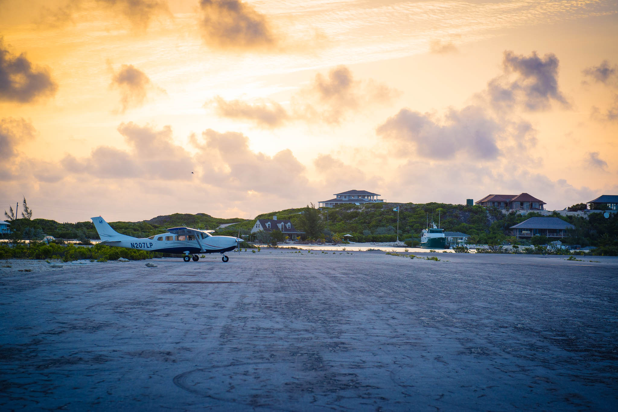 Sunrise Over Staniel Cay Airport By Patrick Bennett