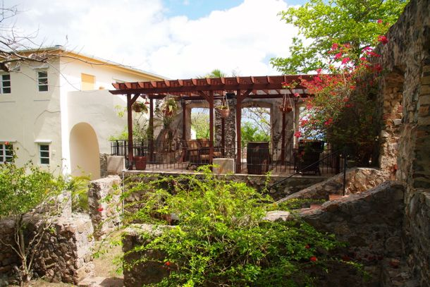 Patio in the Ruins, Estate Belvedere, St. Croix | SBPR