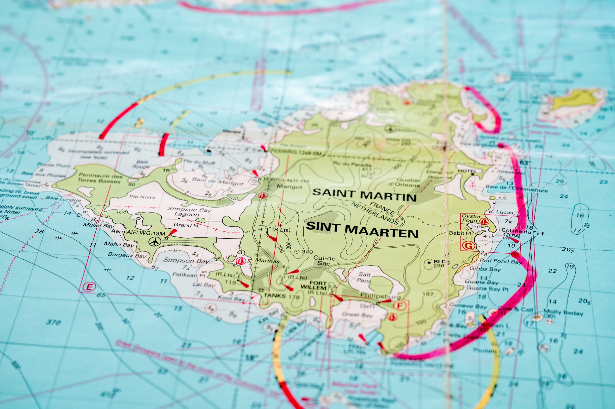 St. Martin/St. Maarten Border Map