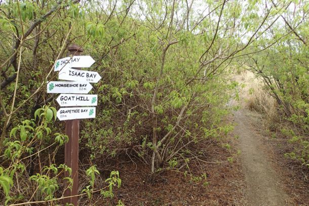More signs along the trail to Jack's Bay | SBPR