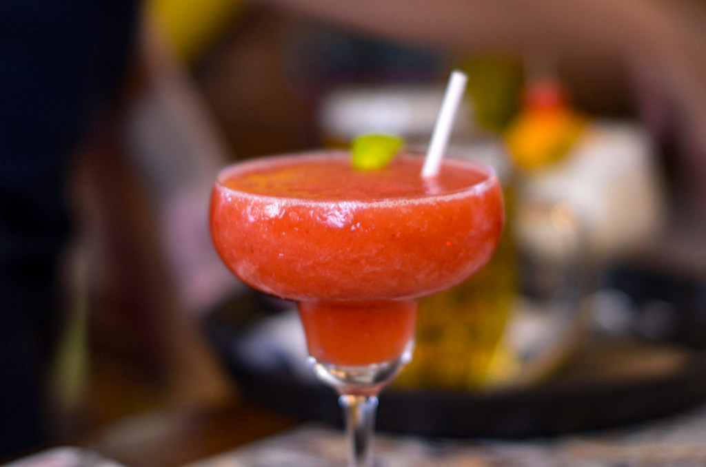 The frozen strawberry daiquiri is not a real daiquiri!