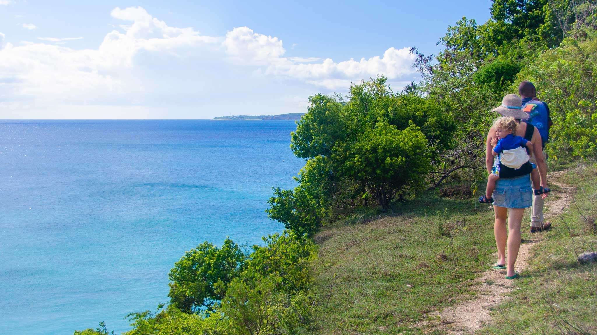 Hiking to Little Bay Anguilla by Patrick Bennett