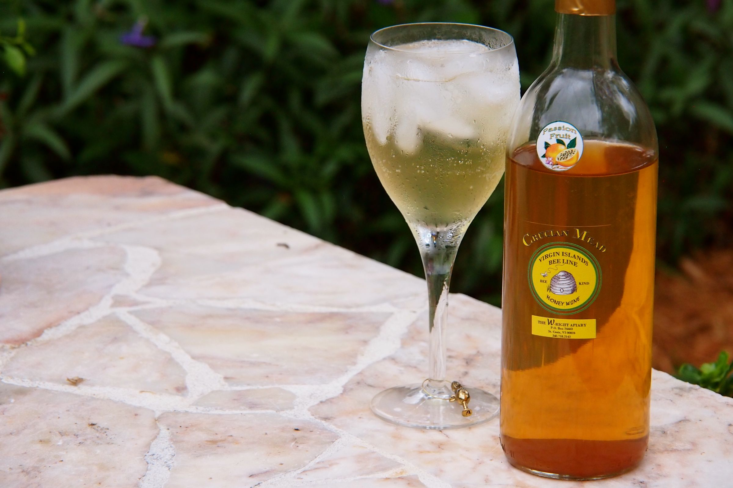 Crucian Passion Fruit Honey Mead Mimosa