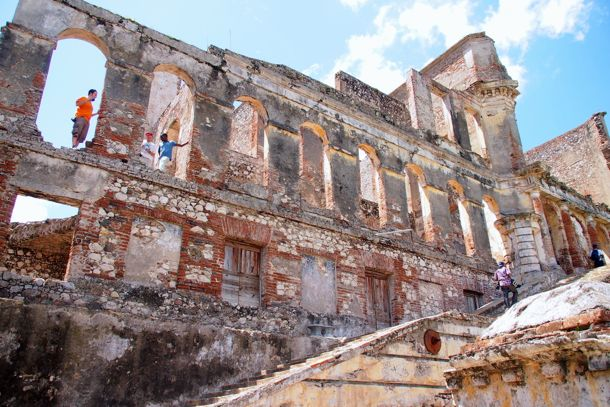 Up these stairs to the main entrance of Sans-Souci Palace in northern Haiti | SBPR