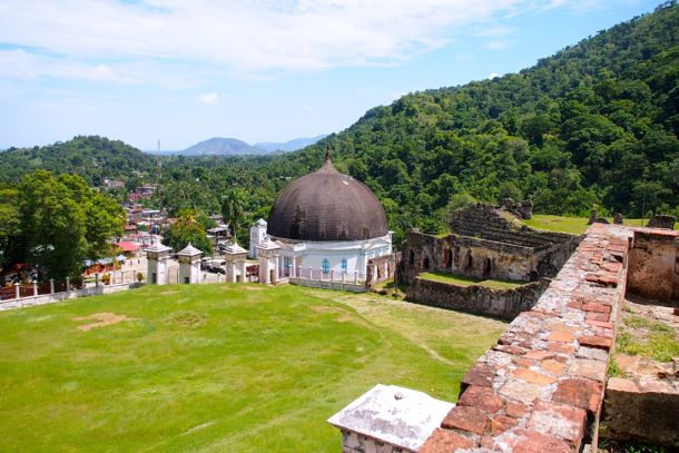 Looking out over Milot and the Milot Chapel from Sans-Souci Palace, Haiti | SBPR