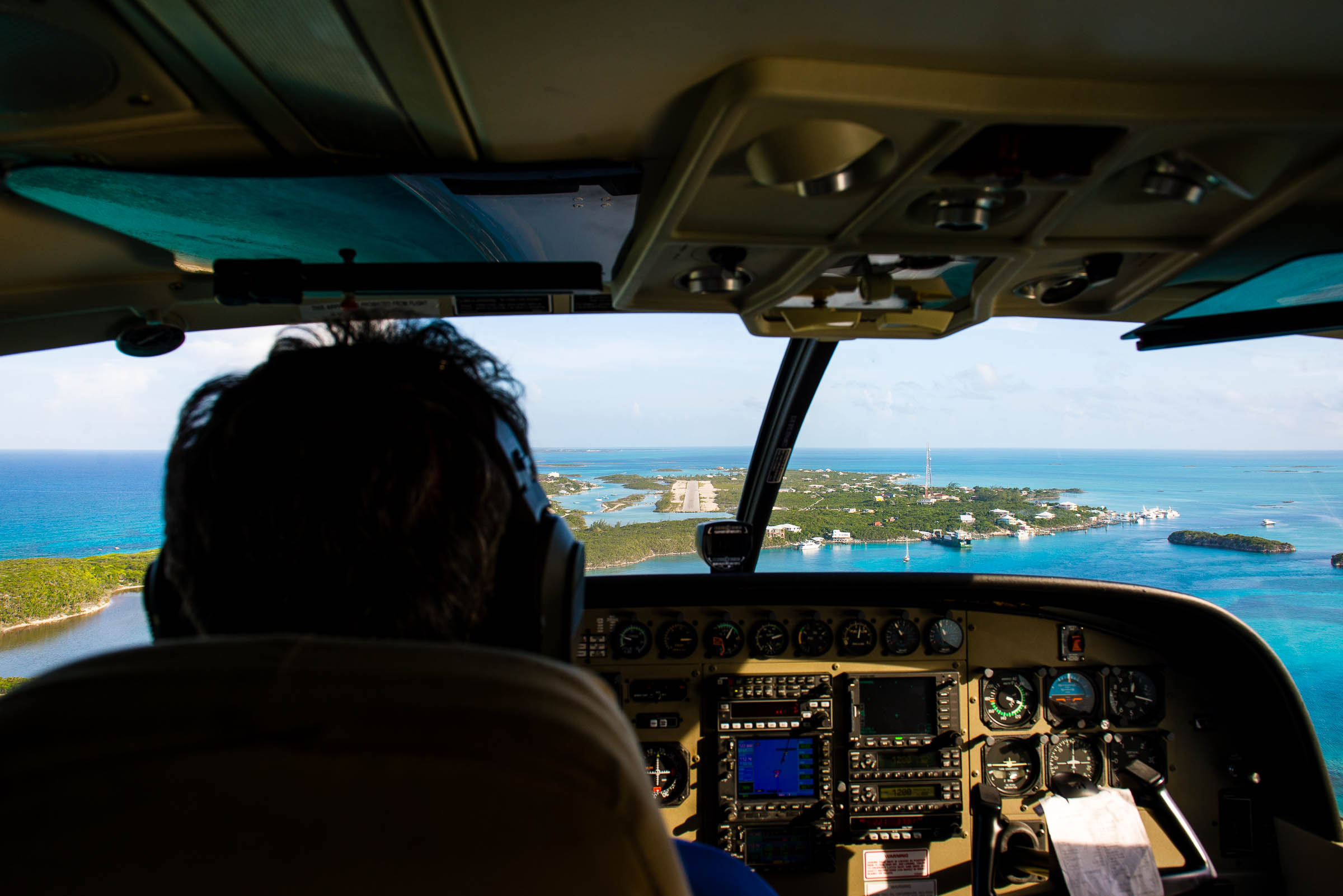 Landing at Staniel Cay Airport, The Bahamas by Patrick Bennett