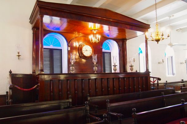 Inside the Mikvé Israel-Emanuel Synagogue, Curacao | SBPR