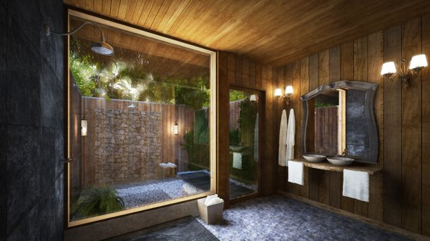 Planned bath at The Baymen, Belize