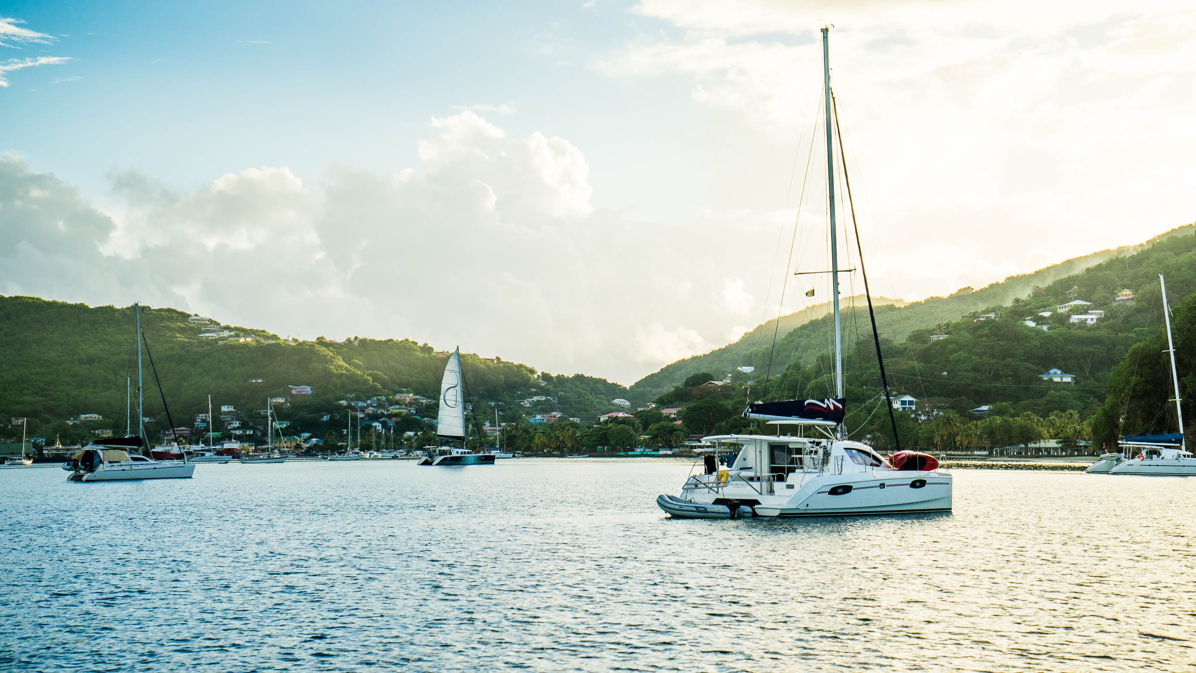 Sailing Admirality Bay, Bequia, The Grenadines by Patrick Bennett