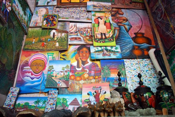 Haitian art pieces are popular sellers in the Iron Market | SBPR