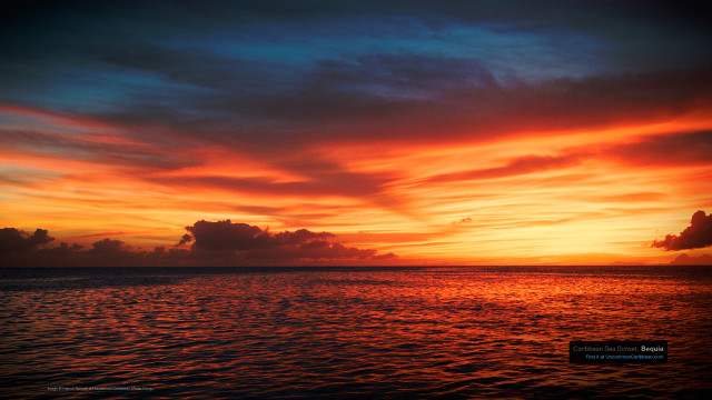 Caribbean Sea Sunset, Bequia, St. Vincent and the Grenadines