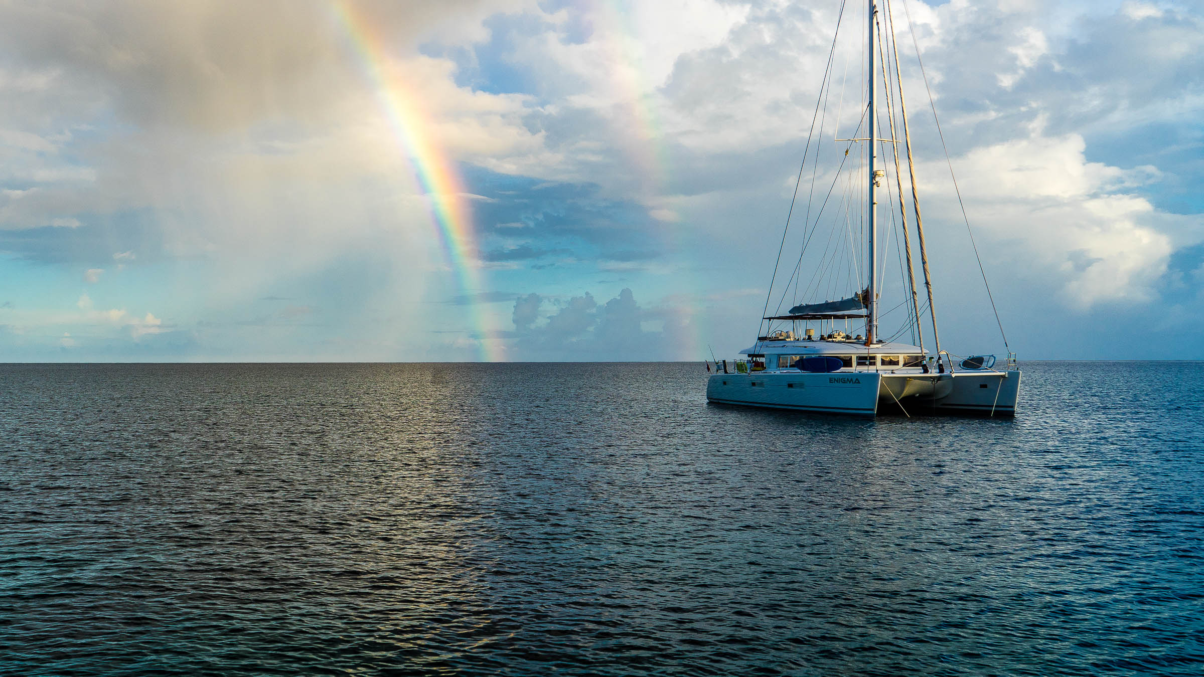 Double Rainbow Morning Bequia by Patrick Bennett