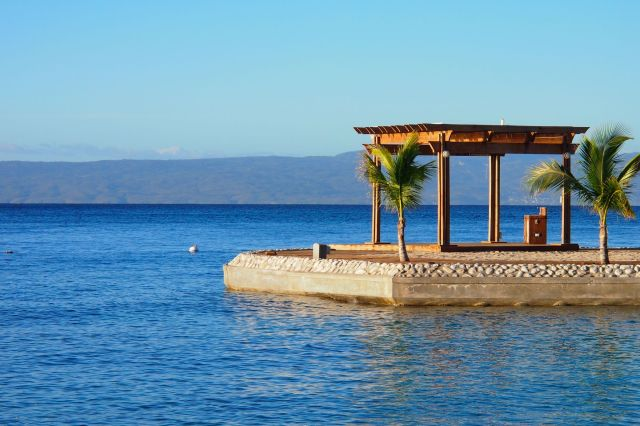 Man-made island at Moulin Sur Mer Resort in La Cote des Arcadins, Haiti | SBPR