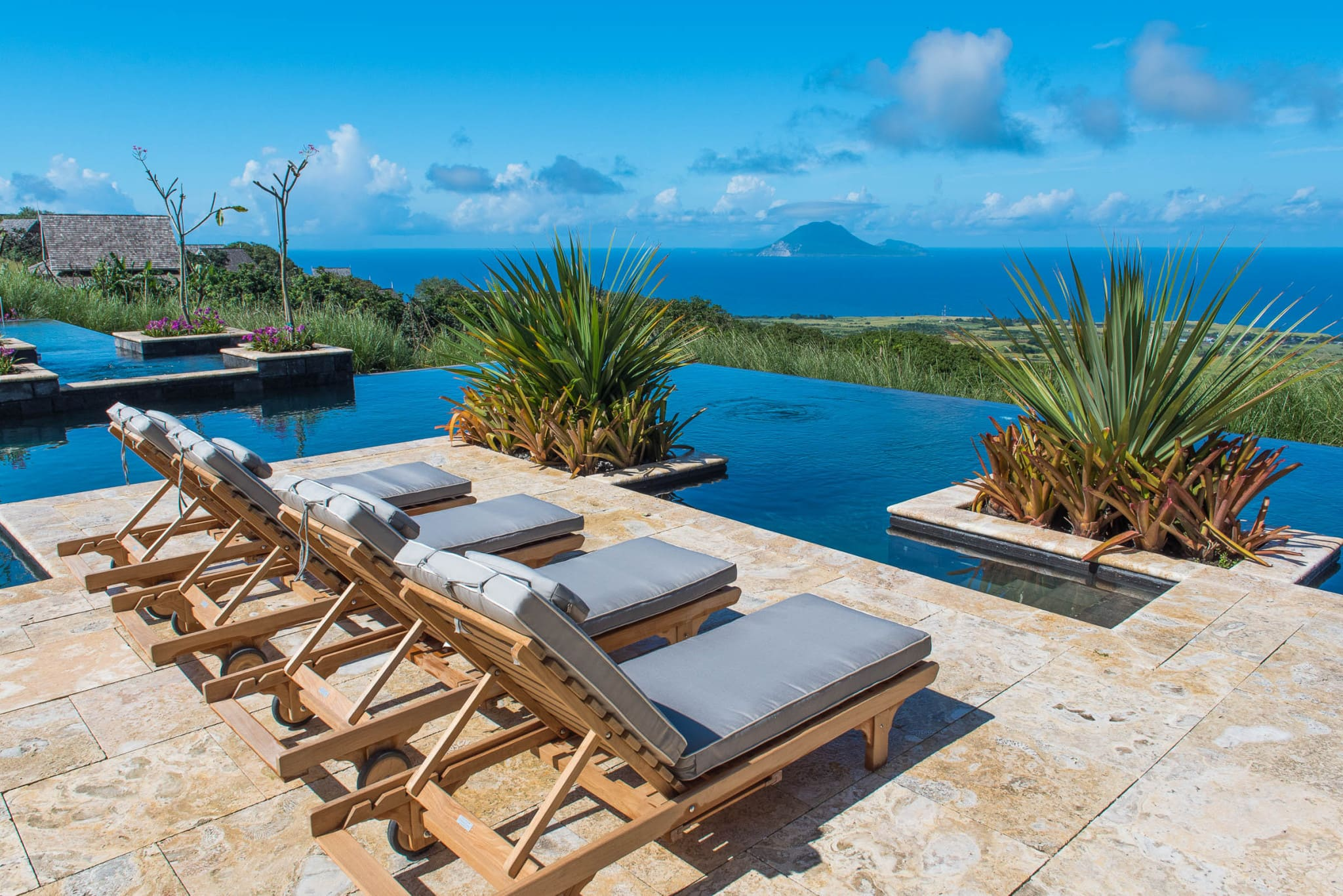 The Pool at Belle Mont Farm on Kittitian Hill by Patrick Bennett