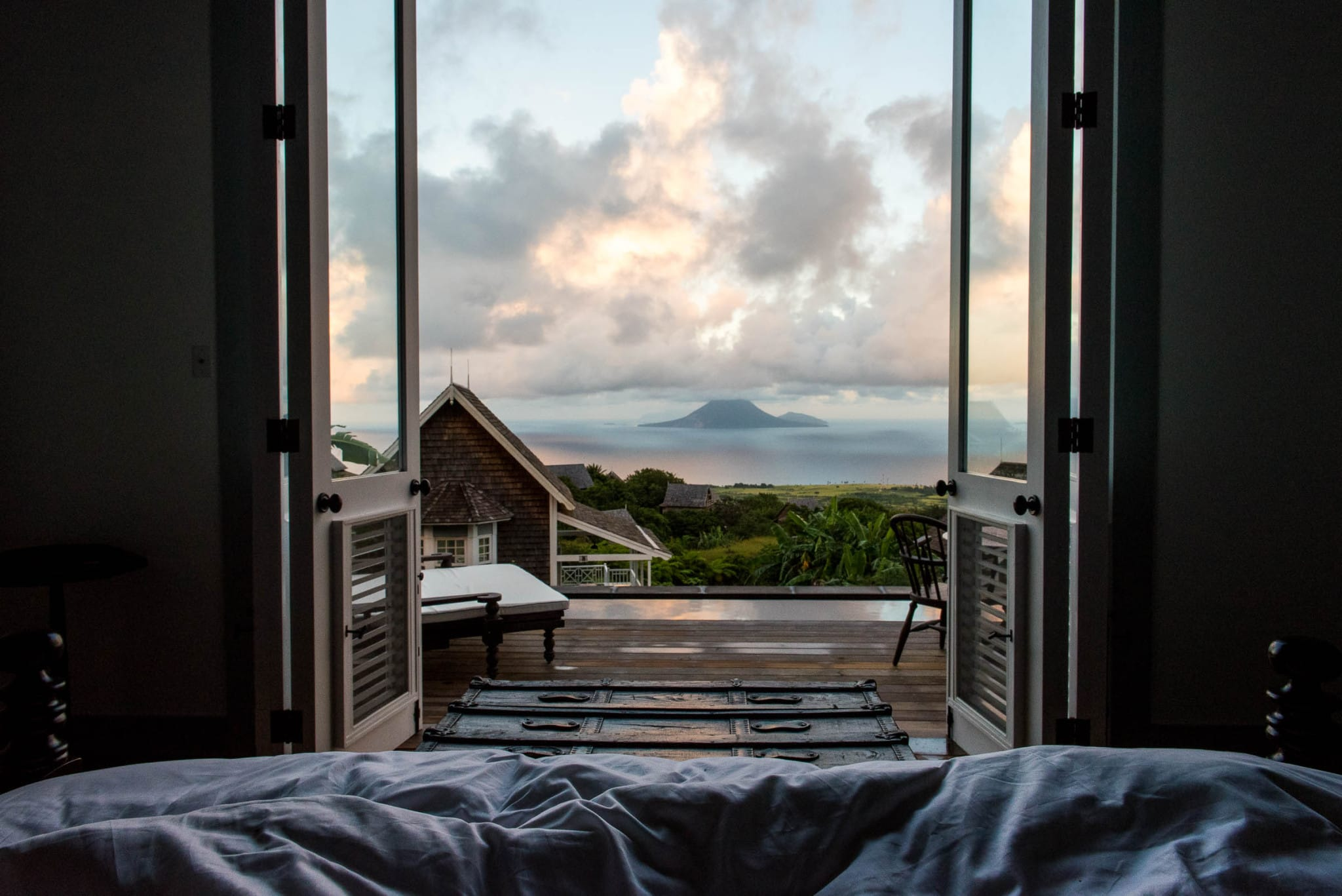 Waking up at Belle Mont Farm on Kittitian Hill by Patrick Bennett