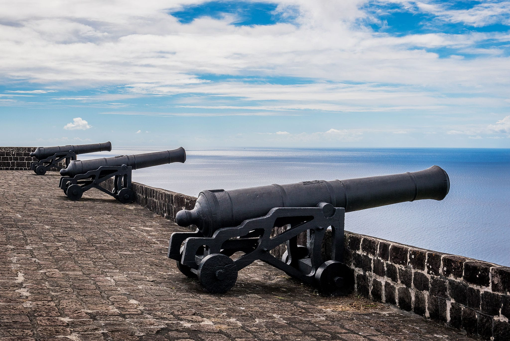 Brimstone Hill Fortress cannons by Patrick Bennett