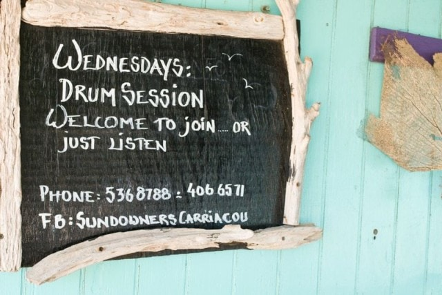 Sundowners Drum Session sign | Credit: Zickie Allgrove