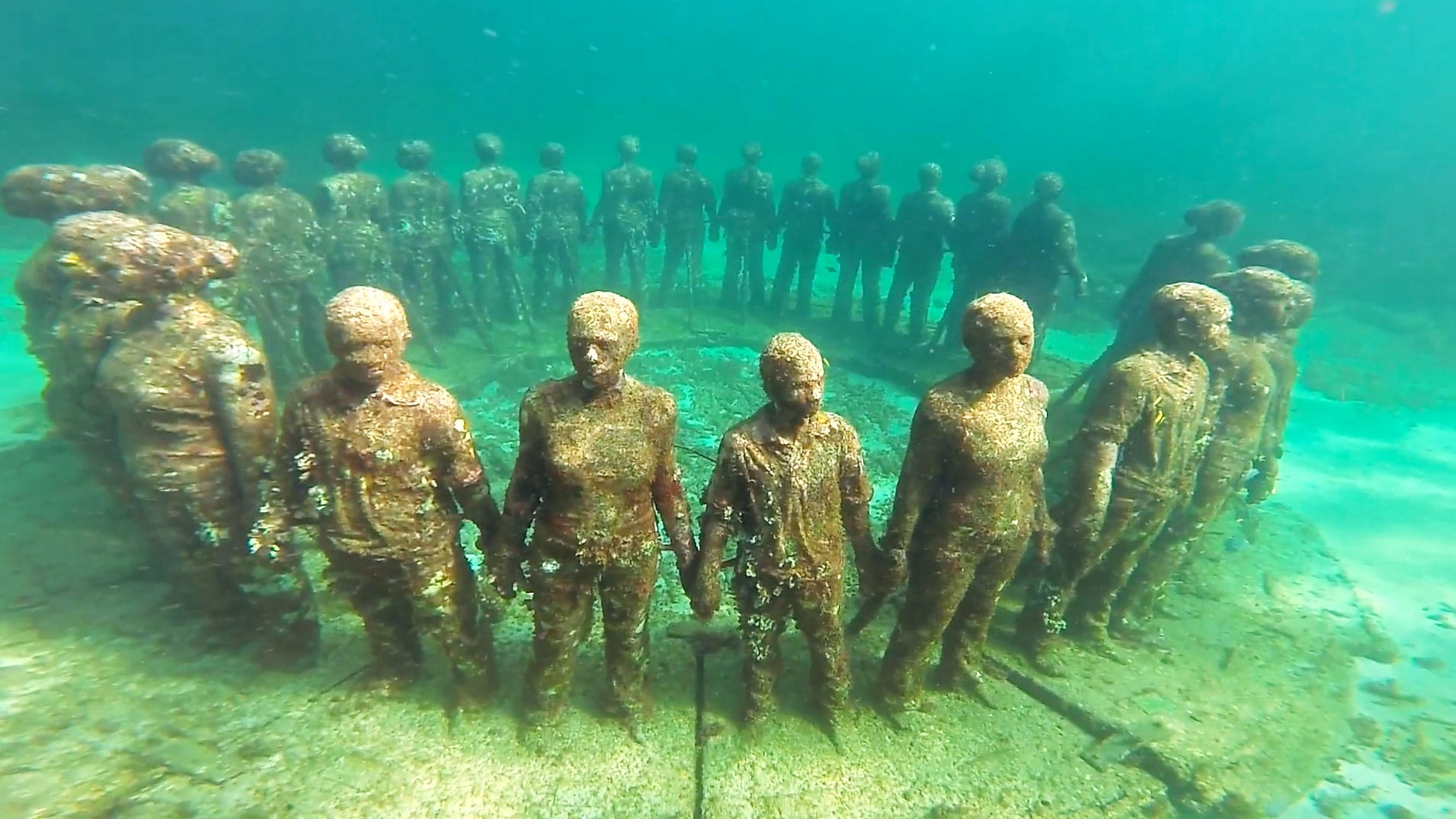 The Molinere Underwater Sculpture Park, Grenada by Patrick Bennett