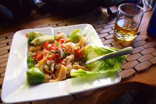 My conch salad at Bugaloo's Conch Crawl | SBPR