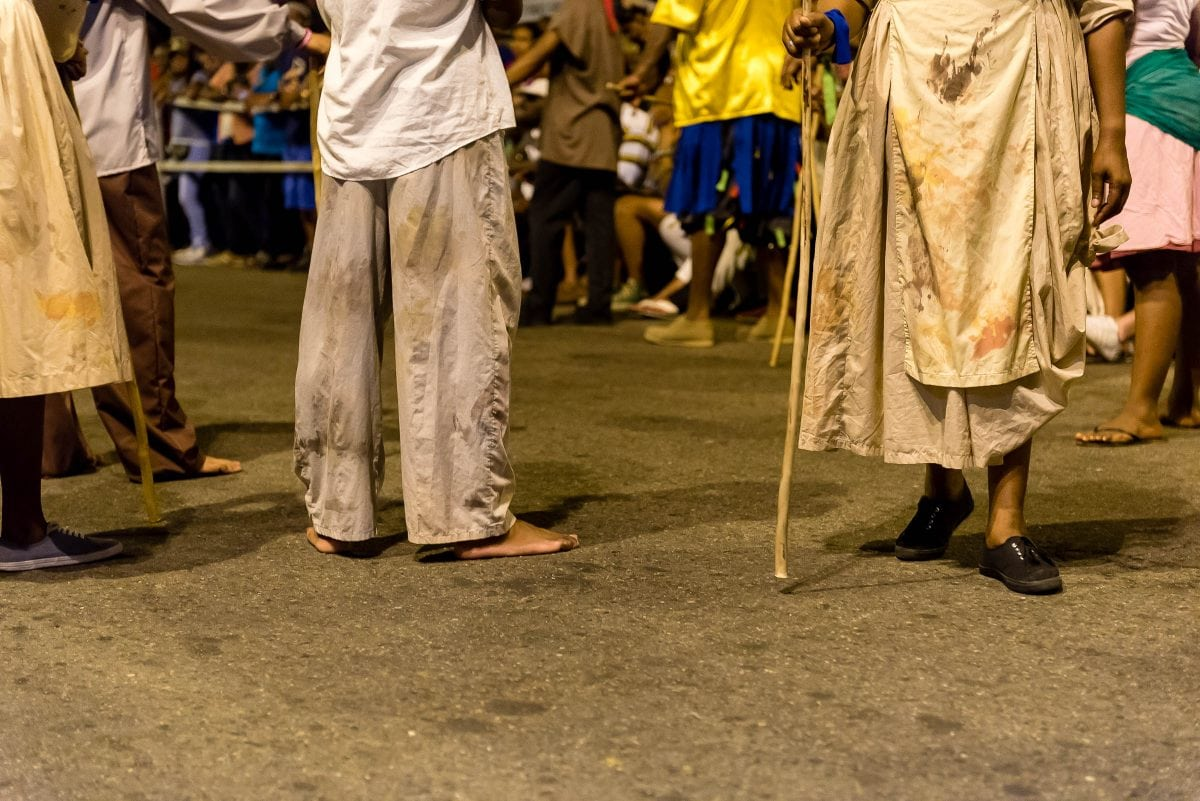 Kambule/Canboulay feet on the ground by Patrick Bennett
