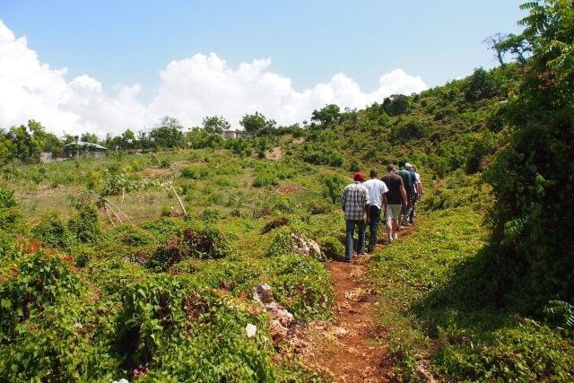 Heading up toward the entrance to the caves | SBPR
