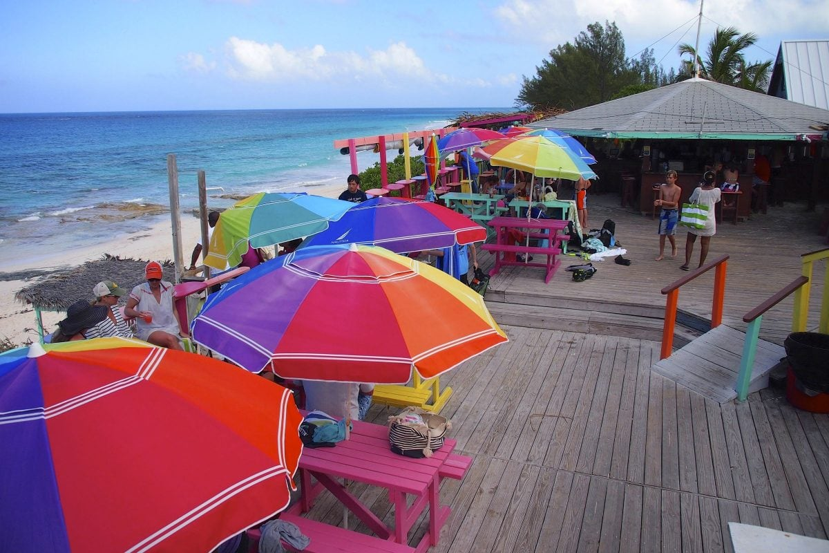 Ocean view deck at Nipper's Bahamas
