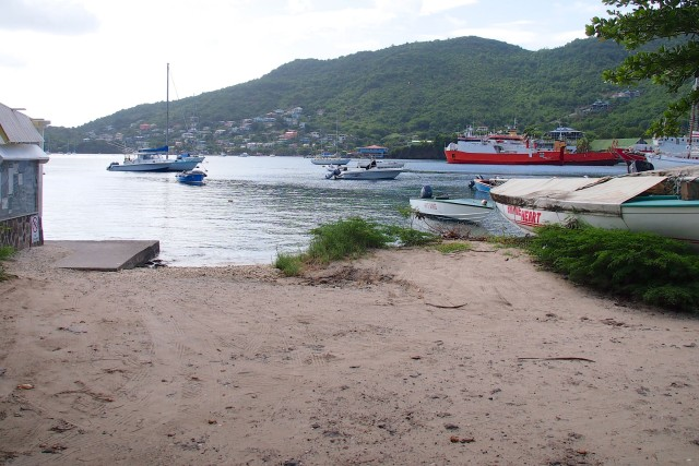View of Admiralty Bay from The Porthole Restaurant and Bar and Shoreline Mini Market, Bequia | SBPR